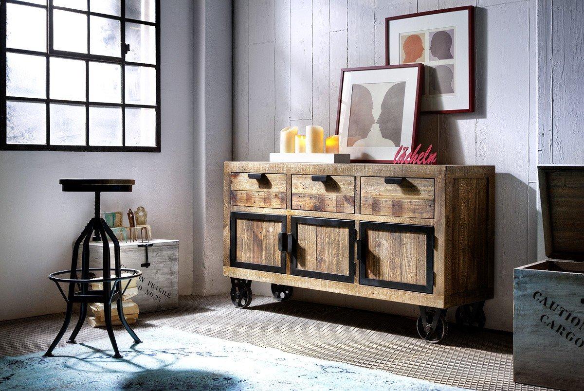 dreams4home sideboard 39 fin ii 39 recycling kiefer antik. Black Bedroom Furniture Sets. Home Design Ideas