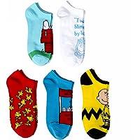 Peanuts Women's 5 Pack No Show Socks