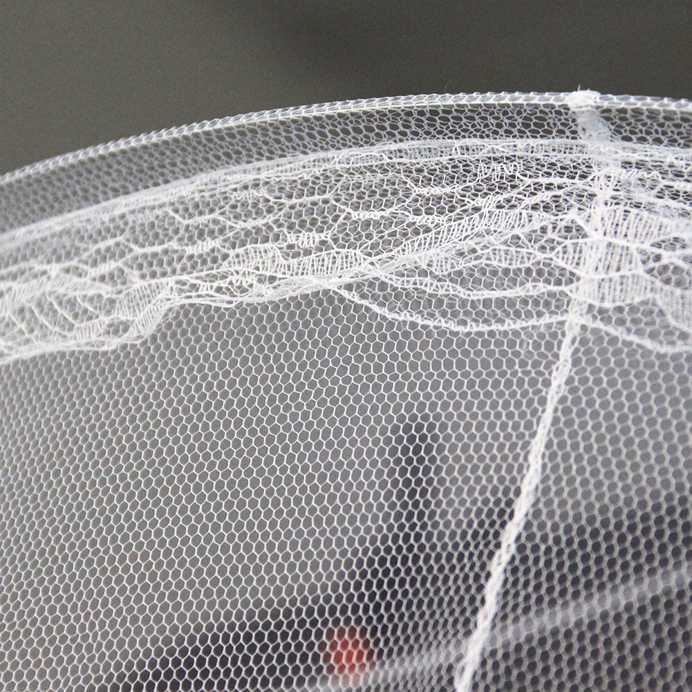 lucktone Mosquito Nets Circle Screen Bed Netting Canopy Princess Bed Canopy White for Girls