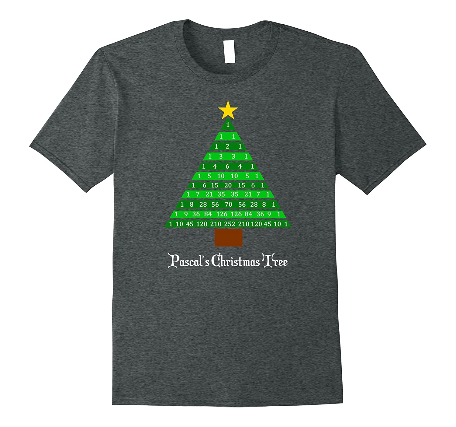 Pascal S Christmas Tree Fun Math Christmas Tee Shirt Anz Anztshirt