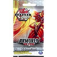 Bakugan Pro, Armored Elite Booster Pack with 10 Collectible Trading Cards, for Ages 6 and Up