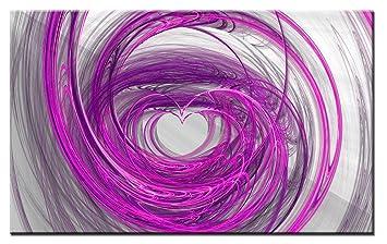 Lynxart Leinwanddruck U2013 Herz U2013 New Pink Schwarz Grau Wand Art Großer Zimmer  Wanddekoration Malerei Gespannt