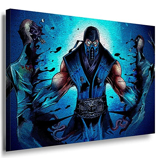 Mortal Kombat SUB Zero Ninja Lienzo Cuadro Lara imágenes ...