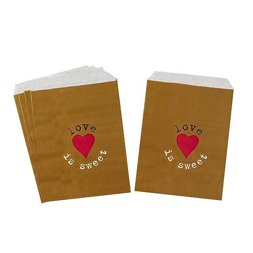 Neviti Just My Type Sweetie Bolsas, Papel, Papel Kraft, 23 x 13 x 0,2 cm