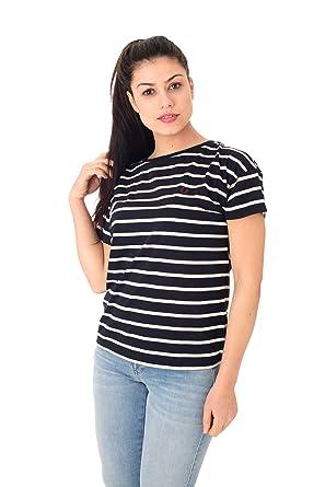 f50e6436b Fred Perry White Striped Women s t-Shirt  Amazon.co.uk  Clothing