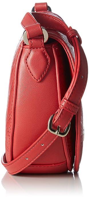 Borsa Gaufrée Pu Rosso, Femmes Sac À Bandoulière, Rot (rouge), 18 X 23 8 Cm (lxhxp) Moschino D'amour