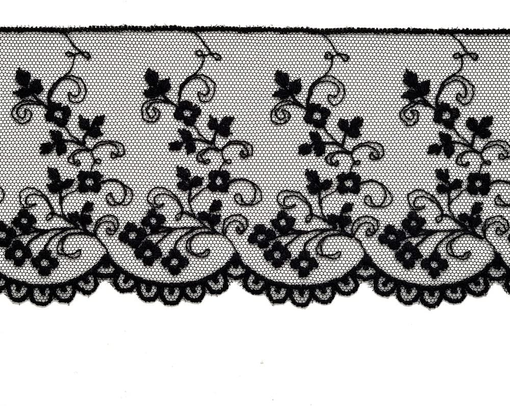 Very pretty floral embroidered lace trim 1 inch price for 1 yard//select color