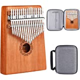 AK 17 Key Kalimba, High Quality Thumb Piano Solid Finger Piano Mahogany Marimba Musical Gift (Mahogany)