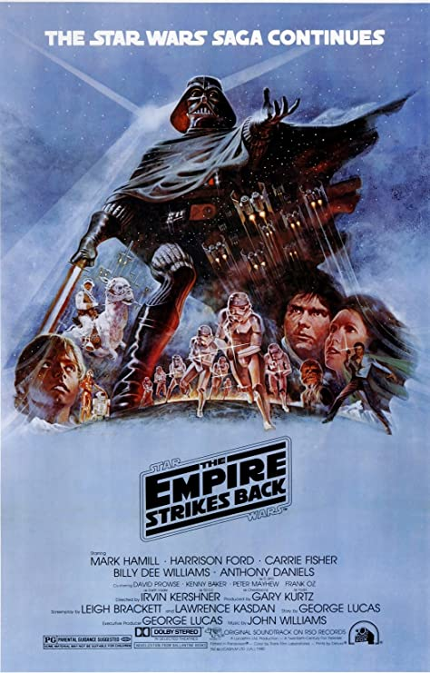 THE EMPIRE STAR WARS EPISODE V DOOR MOVIE POSTER THE EMPIRE STRIKES BACK