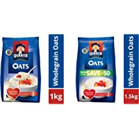 Quaker Oats Pouch, 1kg and Quaker Oats, 1.5kg Pack
