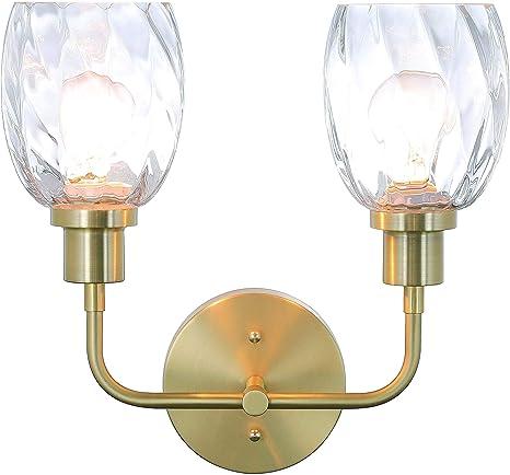 100-Watt Incandescent Medium Base Lamps Brushed Nickel Uses 2 Vanity Fixture 14 x 8