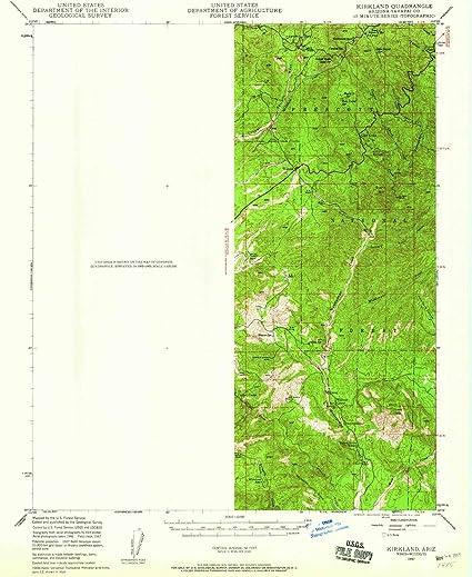 Amazon.com : YellowMaps Kirkland AZ topo map, 1:62500 Scale, 15 X 15 on kirkland neighborhoods, kirkland washington shopping, prescott zip code area map, prescott and surrounding areas map, kirkland illinois, kirkland arizona, east king county zip code map,