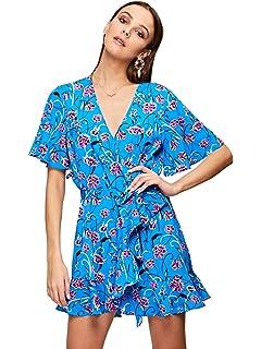 d4ef7b745c Amazon.com: Hemlock Wrap Dress Hawaii Sundress Long Maxi Dress Women ...