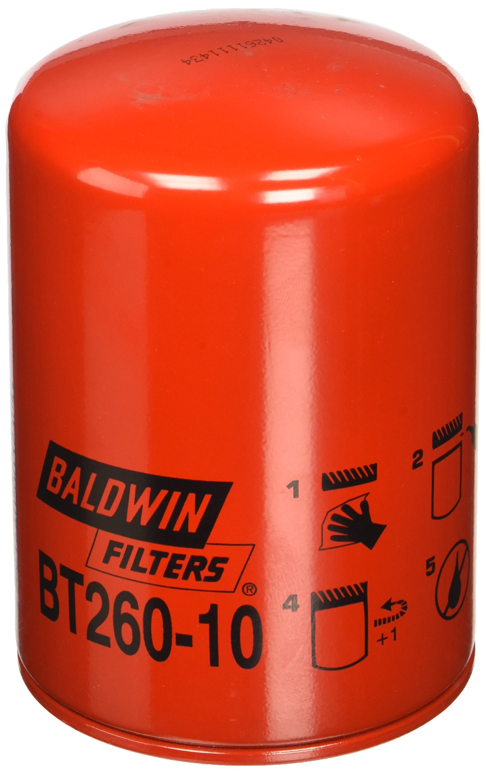 Baldwin Heavy Duty BT260-10 Hydraulic/Transmission Filter,5-3/8 In