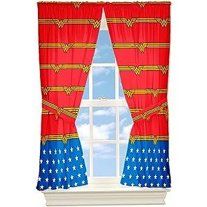 Window Panel Wonder Woman Set of 2 Panels