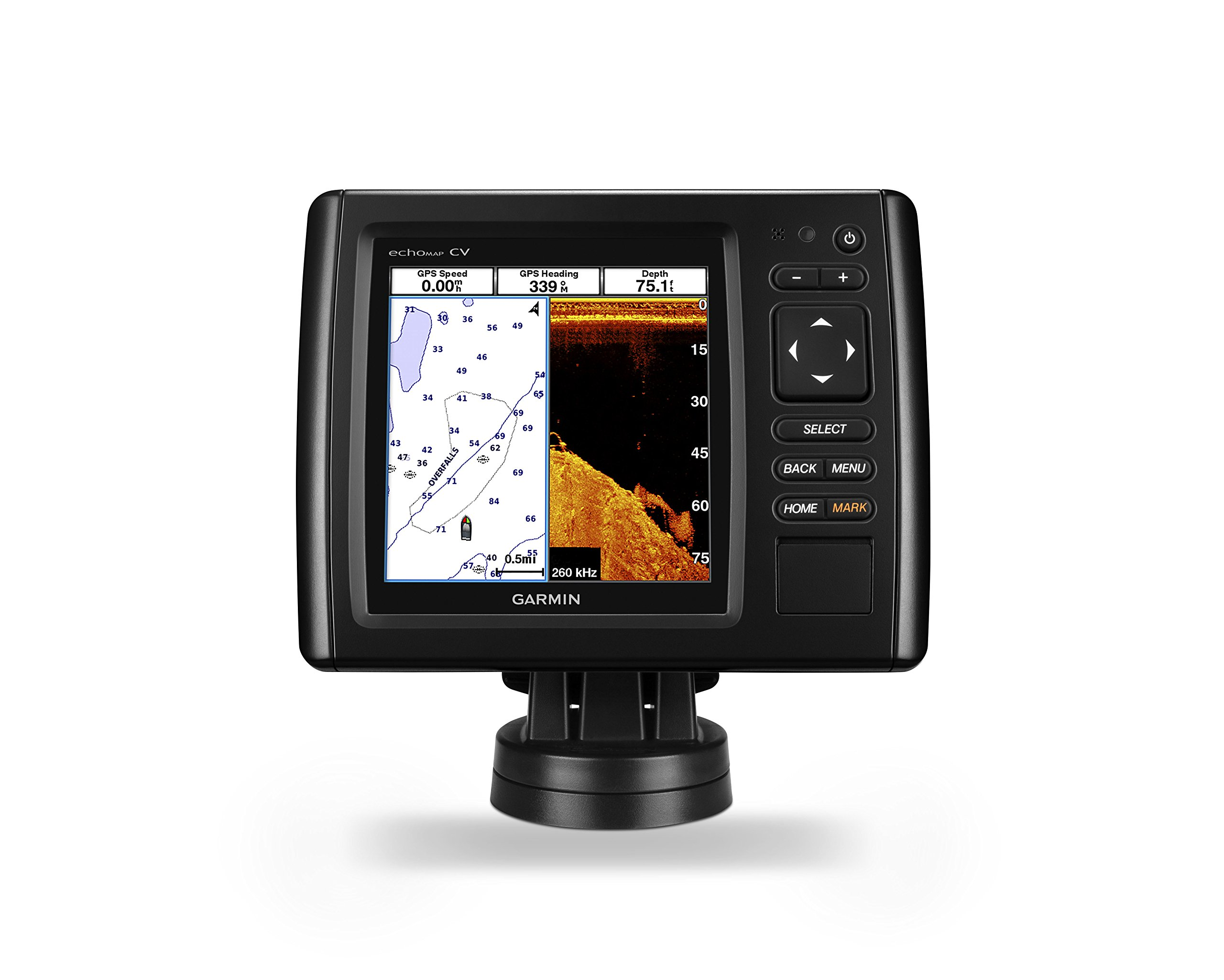 Garmin 010-01818-00 Garmin echoMAP CHIRP 55cv with transducer by Garmin