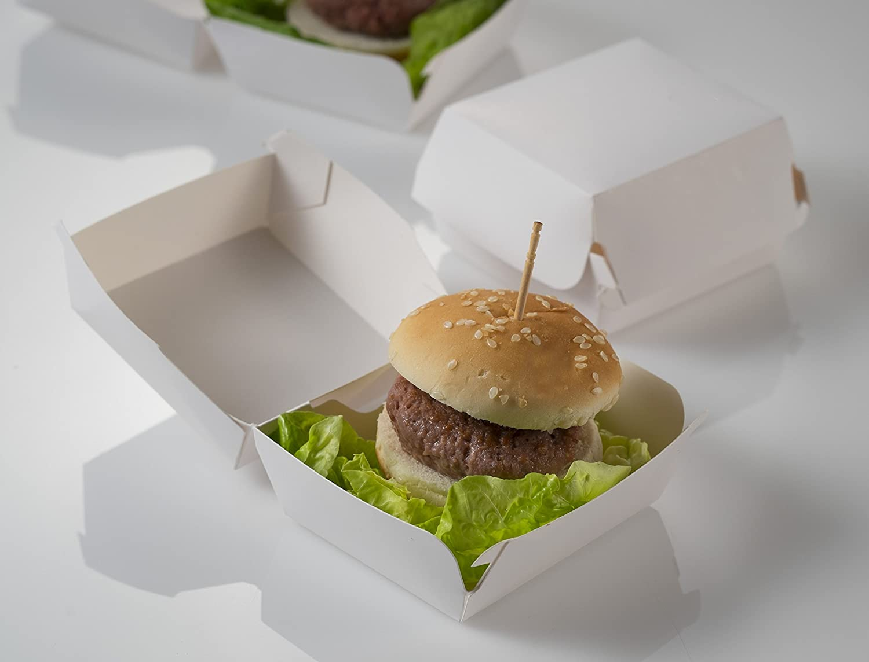 Concha para Burguer Caja para mini Hamburguesa 7,5x7,5x5 cm 25 uds