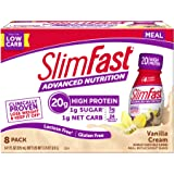 Slimfast Advanced Nutrition Vanilla Cream Shakes - Ready to Drink Meal Replacement - 20g Protein - 11 fl. oz. Bottle - 8 Count