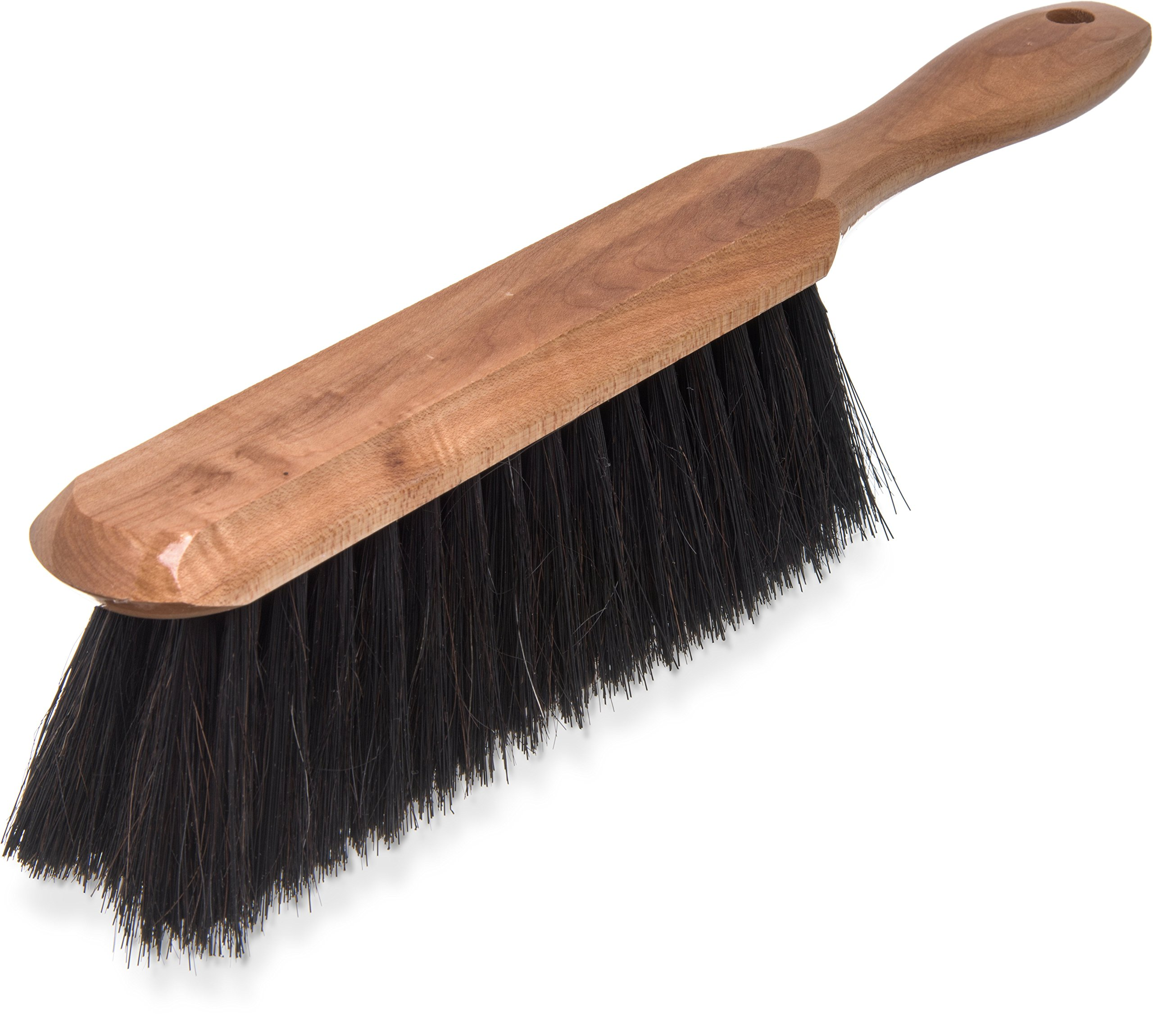 Carlisle 4048500 Wood Handle Counter Brush, Horsehair and Polypropylene Bristles, 8'' Brush Size, 13'' Overall Length (Pack of 12)