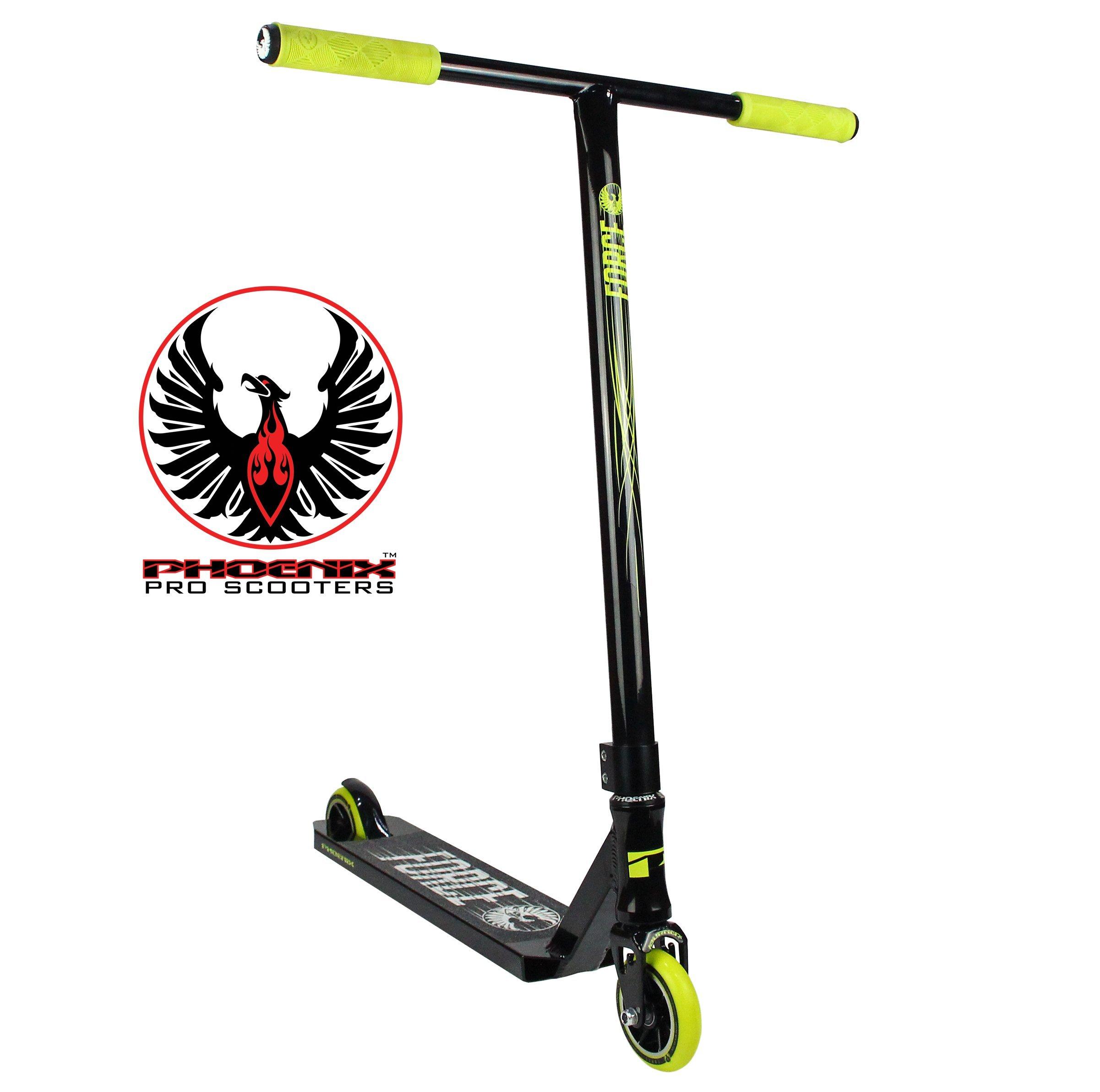 Phoenix Force Pro Scooter (Black/Neon Yellow) by Phoenix Pro Scooters