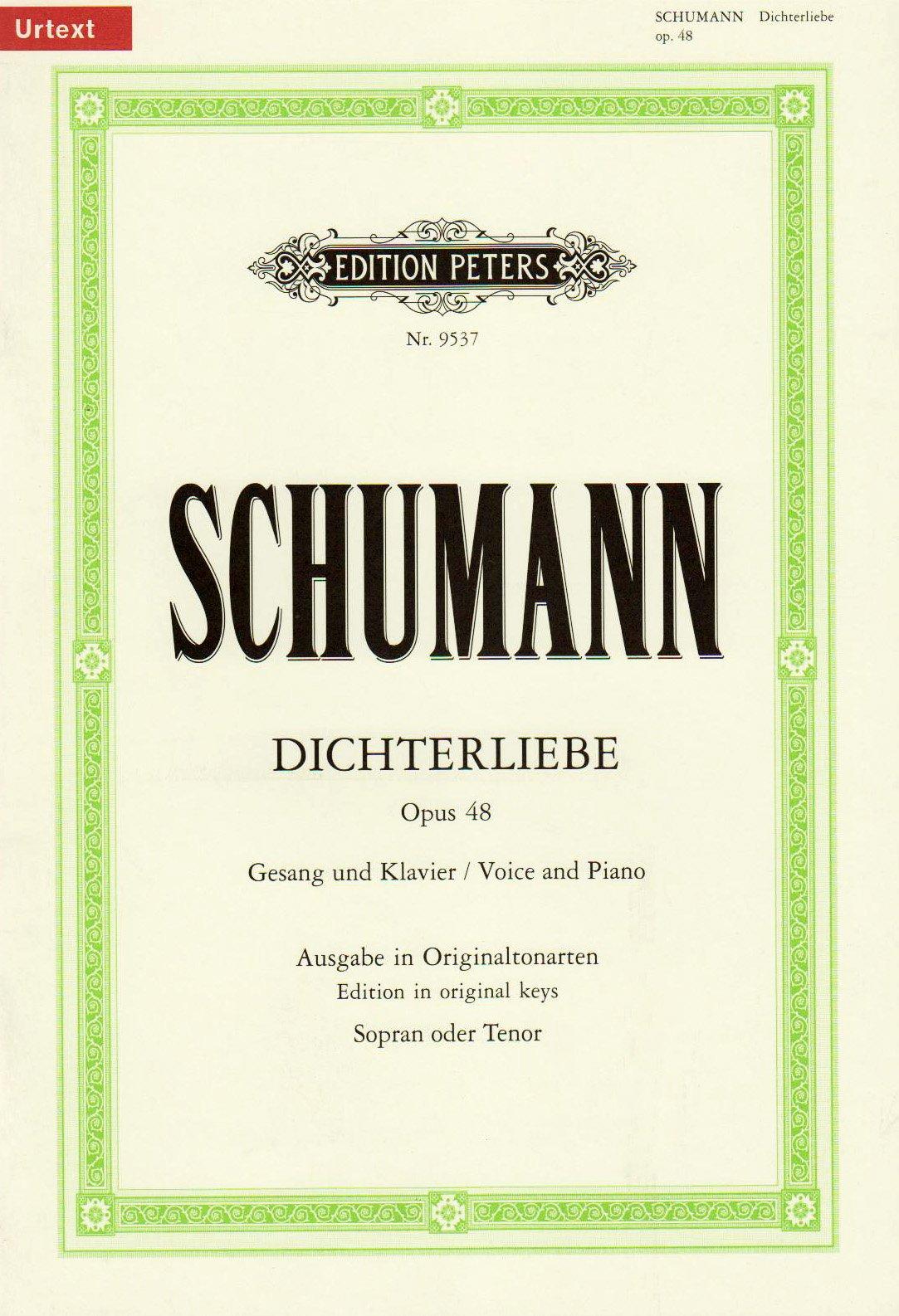Schumann: Dichterliebe, Op. 48: Robert Schumann: 9790014077327: Amazon.com:  Books