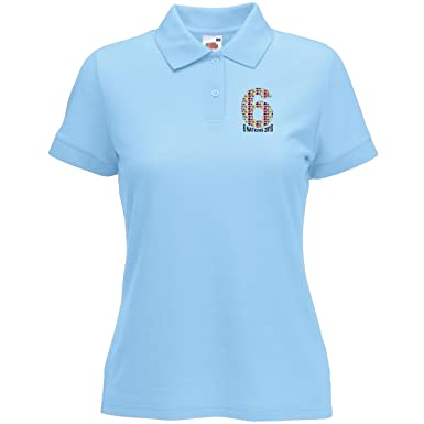 Six Nations 2018 All Nations Number Six Polo Ladies Light Blue Ladies 10-12 3ebee6dbb66