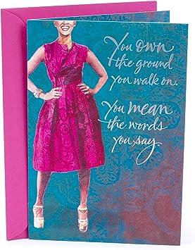 Amazon Com Hallmark Mahogany Birthday Card For Her Woman Office Products