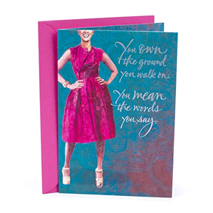 Amazon Hallmark Mahogany Birthday Card For Her Woman