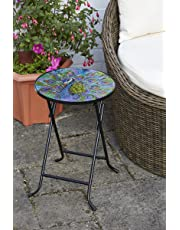 Folding Drinks Table Peacock Design