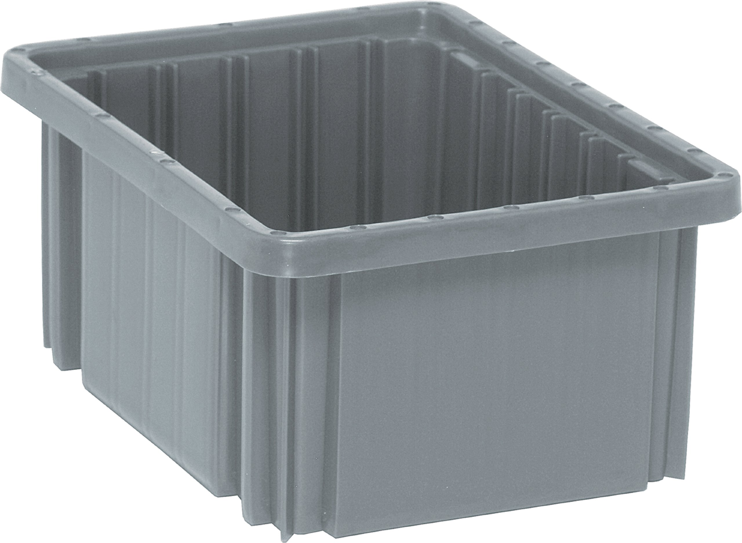 Quantum Storage Systems DG91050GY Dividable Grid Container 10-7/8-Inch Long by 8-1/4-Inch Wide by 5-Inch High, Gray, 20-Pack