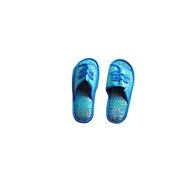 1523e5f1f19f6 CHN Elements.accessories Unisex Silky Brocade Slippers with Rubber ...
