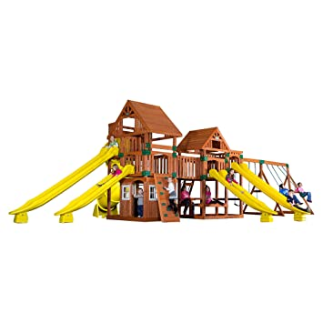 Backyard Discovery Safari All Cedar Wood Playset Swing Set