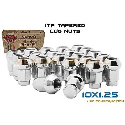QTY-16pc ITP Chrome 10x1.25 Tapered Bulge Acorn Lug Nuts Fits Most Honda, Suzuki, Yamaha & Arctic Cat ATV/UTVs With Aftermarket & OEM Wheels: Automotive