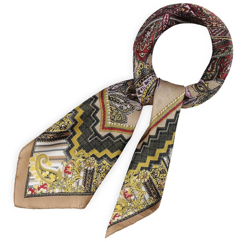 Allée du foulard Carré de soie Stampy Beige  Amazon.fr  Vêtements et  accessoires f2b63c40245
