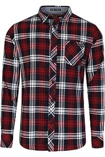 c82ba6846e Tokyo Laundry Men's Callaghan Checked Long Sleeve Shirt Size S-XXL