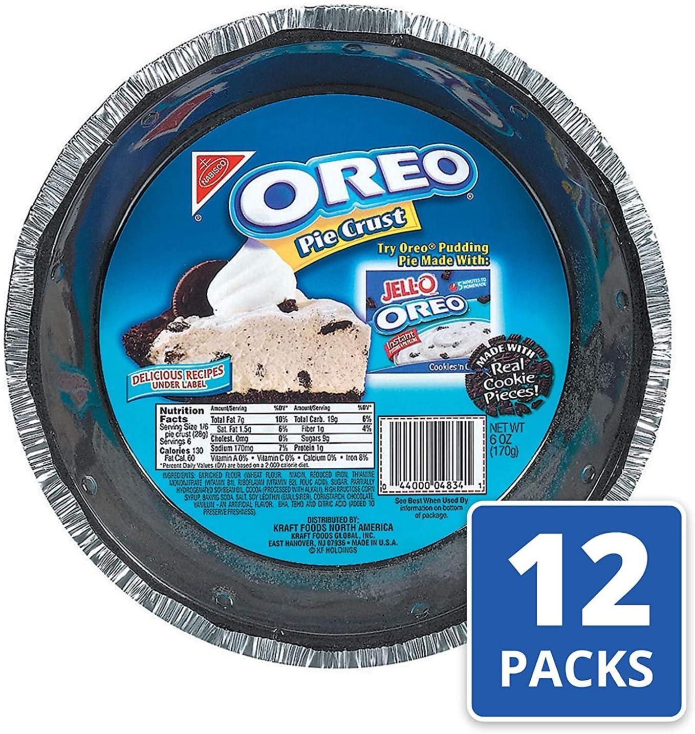 Oreo Pie Crust (6-Ounce, 12-Pack): Amazon.es: Alimentación y bebidas