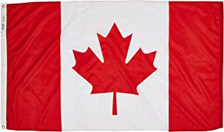 product image for Annin Flagmakers Model 191337 Canada Flag 3x5 ft. Nylon SolarGuard Nyl-Glo 100% Made in USA to Official United Nations Design Specifications.