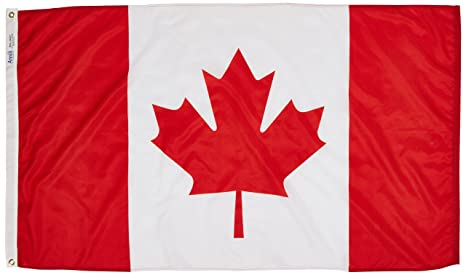 cf37428ad2b8 Amazon.com   Annin Flagmakers Model 191337 Canada Flag 3x5 ft. Nylon ...