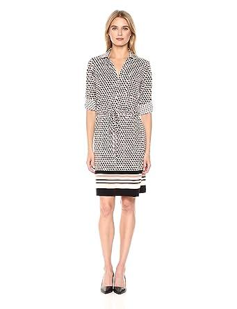 2c47534bc23 Tommy Hilfiger Women's Jersey Shirt Dress, Powder/Ivory/Cappuccino, ...