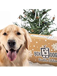 BoxDog - 4 Giant Seasonal Dog Boxes per Year Filled With Handmade Treats, Vegan Skincare, Dog Toys, Gear & Gadgets: Tough...
