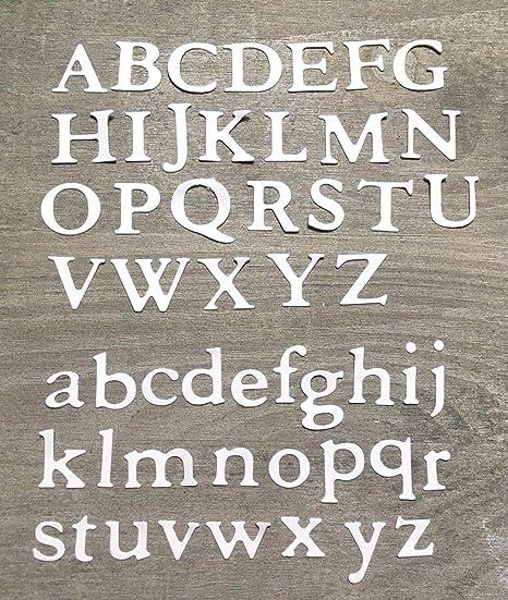 Stanzschablone// Cutting dies Alphabet Buchstaben ABC Script 1,5 cm für Big Shot
