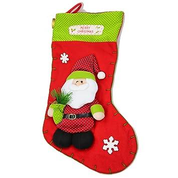 ladelle W23 Navidad calcetín 45 x 26 cm filzstrumpf/nikolausstrumpf – Papá Noel botas –