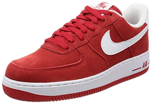 best sneakers e1b90 871c8 Nike Mens AIR Force 1 07 University RedWhite Basketball Shoes-10 UK