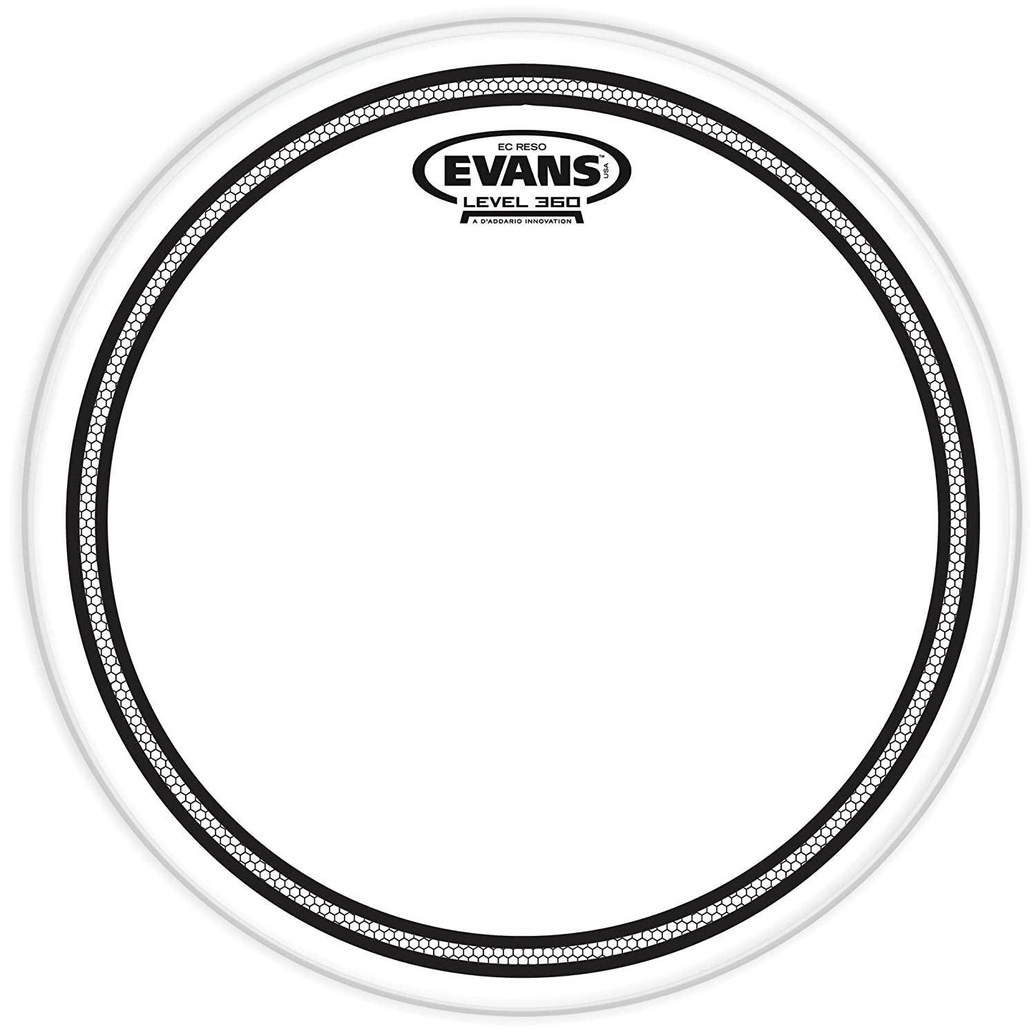 Evans EC Resonant Drum Head, 12 Inch Evans Heads TT12ECR