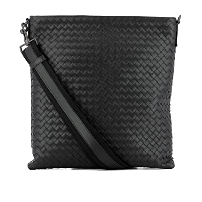 Bottega Veneta Men's 276356V465C1000 Black Leather Messenger Bag