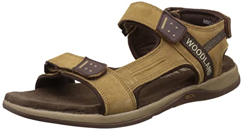 66f4f8da9ad7 Woodland Men s Camel Leather Sandals and Floaters - 6 UK India (40 ...