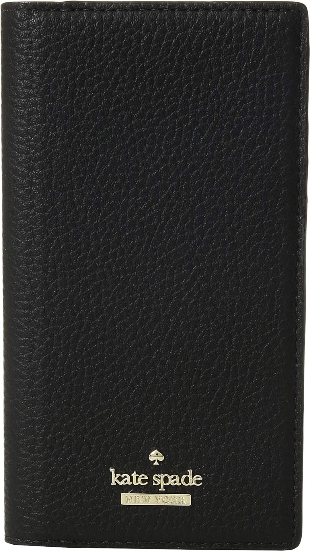Kate Spade New York Women's Pebbled Folio iPhone Case for iPhone X Black One Size