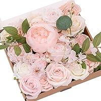 Ling's moment Blush Artificial Flowers Combo for Wedding Bouquets Centerpieces Flower Arrangements Decorations