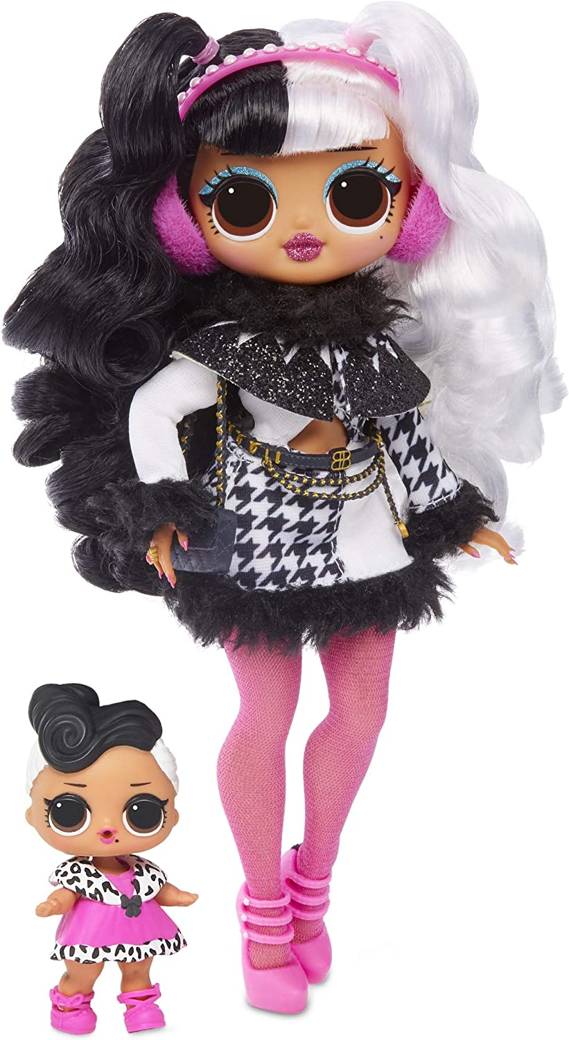 L.O.L. Surprise!-L.O.L. ¡Sorpresa O.M.G. Winter Disco Dollie-Muñeca y Hermana, Multicolor (MGA Entertainment UK LTD 561798)