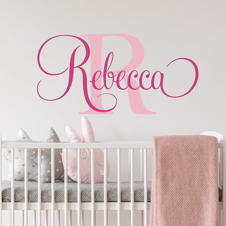 Personalized Monogram Wall Decal Boy room wall decal nursery vinyl wall art sticker